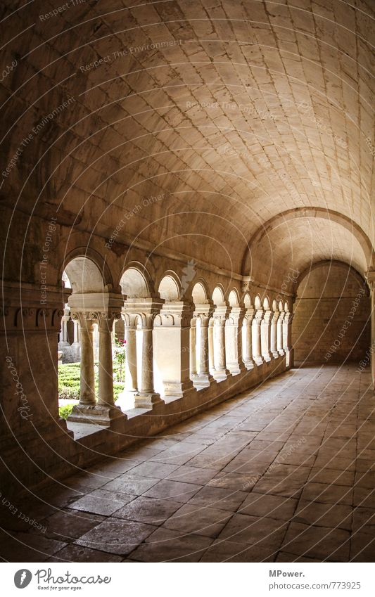 Old Architecture Building Religion and faith Manmade structures Monument France Tourist Attraction Column Corridor Sandstone Monastery Arcade