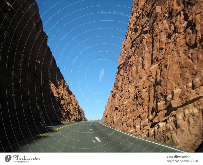 Grand Canyon Pass road through rocks USA endless road road into nothing road through the rocks Nirvana