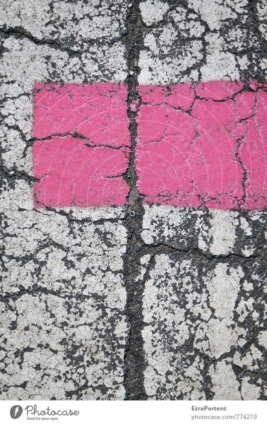 pink on white Traffic infrastructure Street Lanes & trails Sign Line Stripe Net Network Pink Colour White Black Asphalt Design Style Illustration Graph
