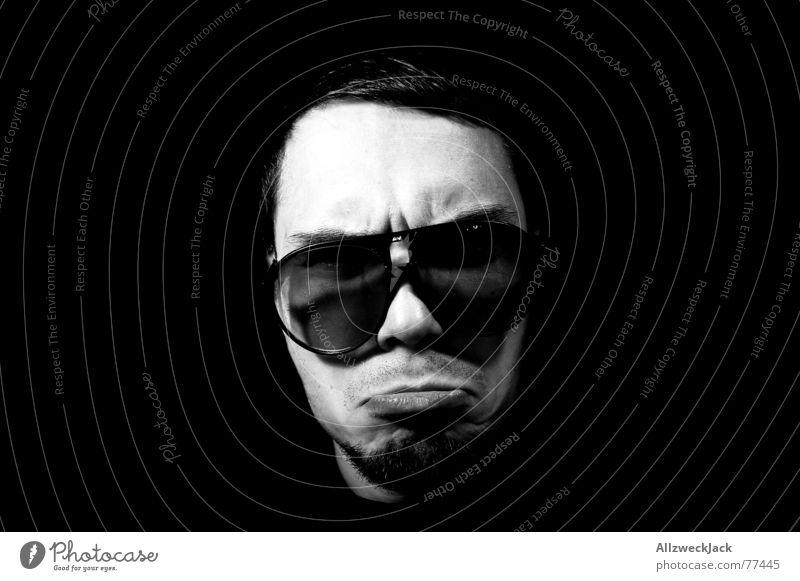 Man Face Black Head Masculine Eyeglasses Lips Anger Evil Sunglasses Superior Part Old-school Demanding Porno glasses Boot camp
