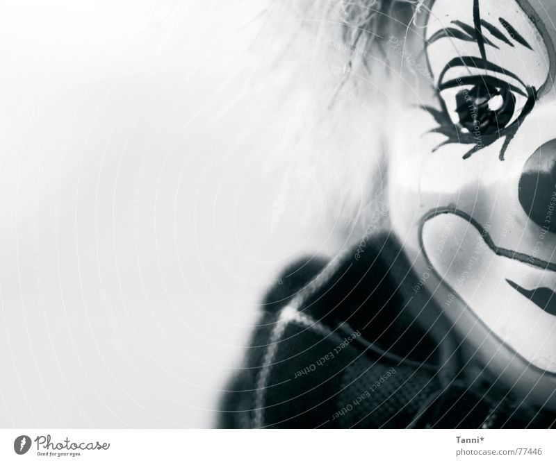 clown Clown Curiosity Face Eyes Doll black-white Laughter