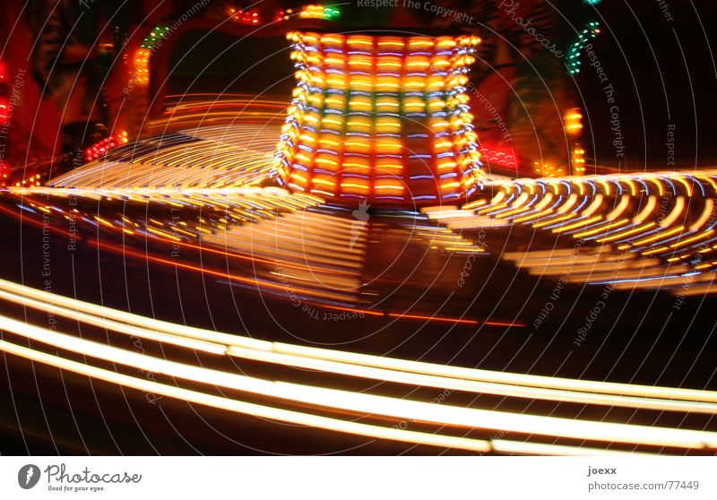 Crazy Joy Leisure and hobbies Night life Entertainment Oktoberfest Fairs & Carnivals Movement Rotate Speed Multicoloured Yellow Red Black
