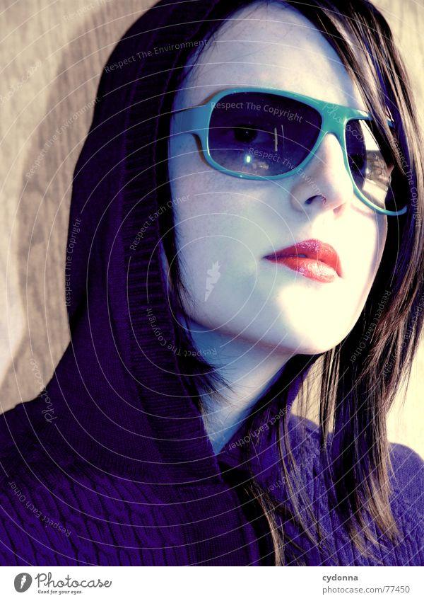 Sunglases everywhere XIX Lips Lipstick Light Style Row Woman Portrait photograph Glittering Cosmetics Sunglasses Gesture Clothing Luxury Skin session