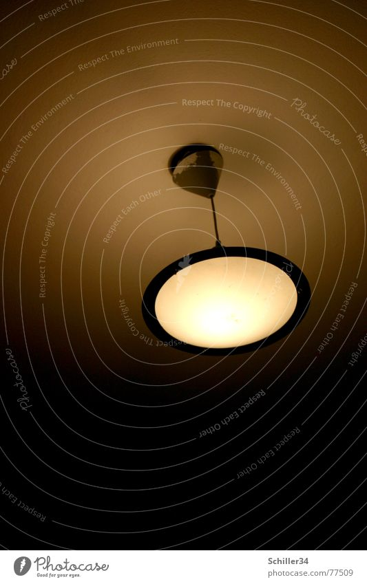 lamp with radiation Lamp Ceiling light Round Light Brilliant Dark Color gradient White Brown Yellow Gray Black Electric bulb UFO Emanation Blanket Circle Bright