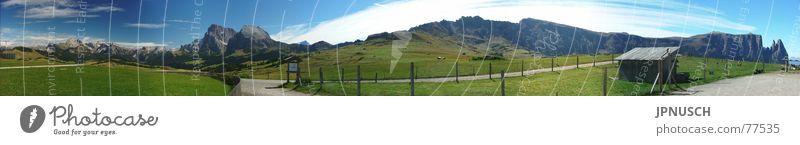 Alpe di Siusi 275° Panorama Seiser Alm Panorama (View) South Tyrol Italy Langkofel Sella Puez-Geisler Nature Park Geisler range Dolomites