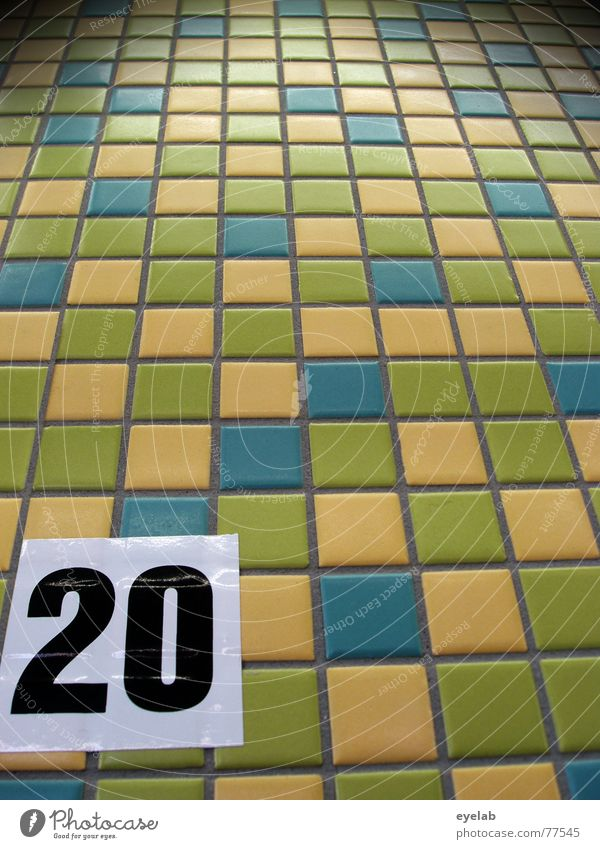 Blue White Green Black Yellow Digits and numbers Tile Markets 20 Supermarket Home improvement store