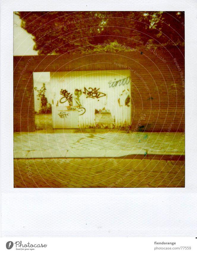 ordeal Wall (barrier) Wall (building) Wood Gate Hollow graffiti Street Sidewalk