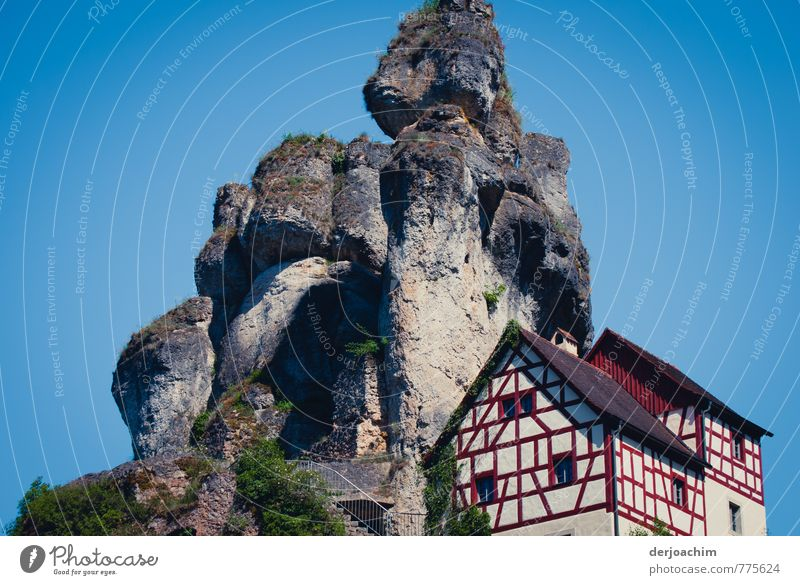 Nature Vacation & Travel Blue Beautiful Summer Red House (Residential Structure) Gray Wood Exceptional Stone Rock Germany Leisure and hobbies Living or residing