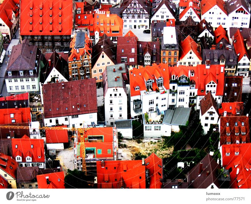City Red House (Residential Structure) Wall (building) Window Wall (barrier) Building Germany Facade Network Roof Living or residing Chimney Dome Alley