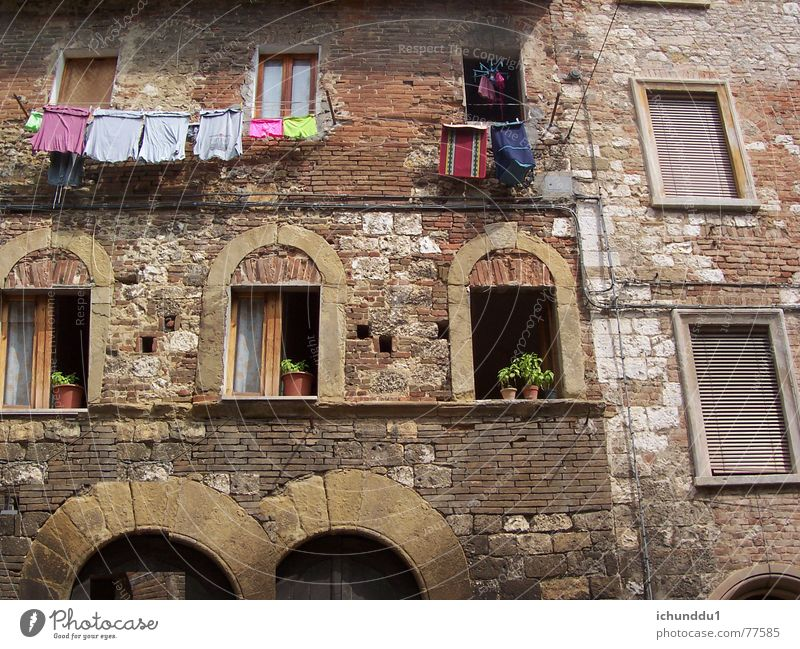 House (Residential Structure) Window Facade Joie de vivre (Vitality) Italy Tuscany Mediterranean Medieval times Southern