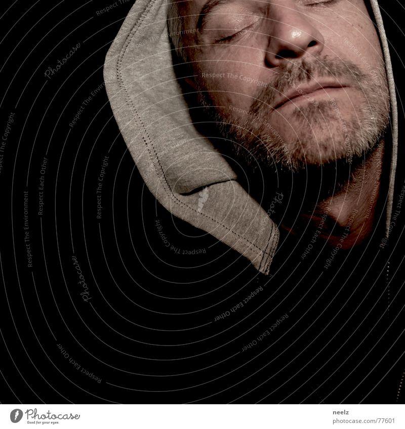 | I'm not gonna do that. Hooded (clothing) Black Green Gray face pakuze Eyes shut Closed