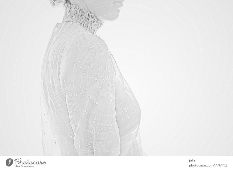 silver-gray Human being Feminine Woman Adults 1 30 - 45 years Esthetic Exceptional Elegant Bright Eroticism Gray White Black & white photo Interior shot
