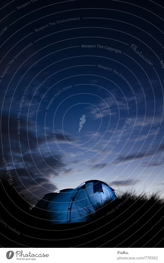 dune camping Vacation & Travel Trip Adventure Far-off places Freedom Expedition Camping Summer vacation Environment Nature Sky Clouds Night sky Stars Grass