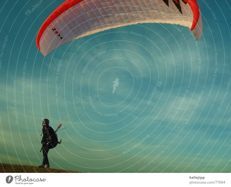 Sky Sports Jump Air Flying Beginning Leisure and hobbies Airplane landing Paragliding Parachute Backpack Funsport Flying sports Skydiving Motorbike helmet