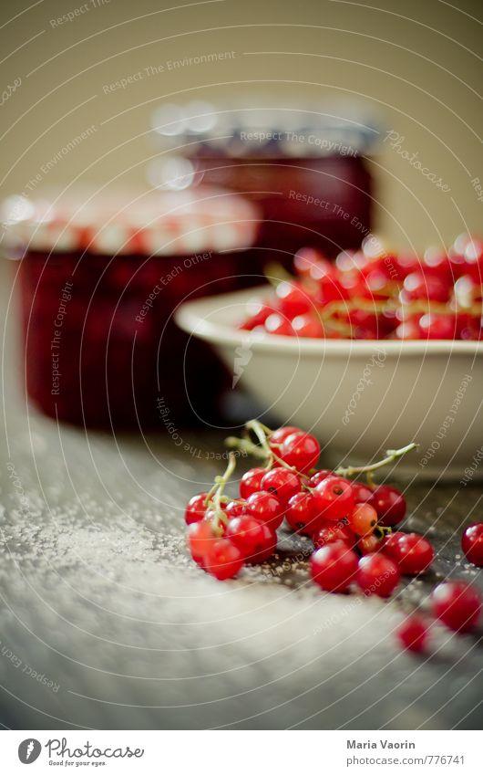 Make some jam Maria Food Fruit Jam Nutrition Bowl Healthy Sweet Redcurrant Jam jar redcurrant jam Self-made Preserving jar jam sugar Sugar Colour photo