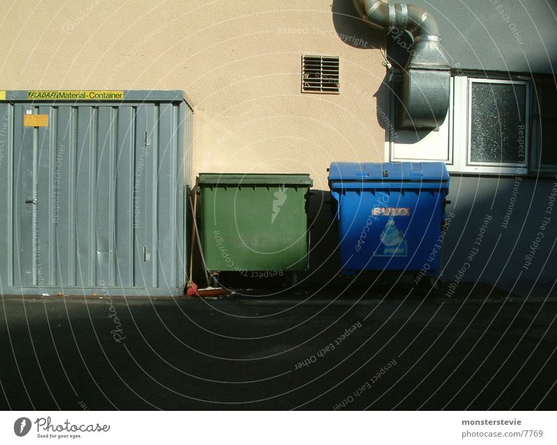 Paper Industry Trash Things Container Backyard Ventilation Dispose of Rear side Outlet air Household garbage