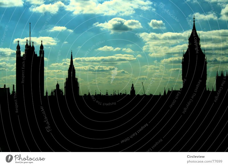 skyline England Great Britain Tourist Glockenspiel Landmark Building Famousness Art Clouds Back-light Vacation & Travel Sky Dark Middle Manmade structures