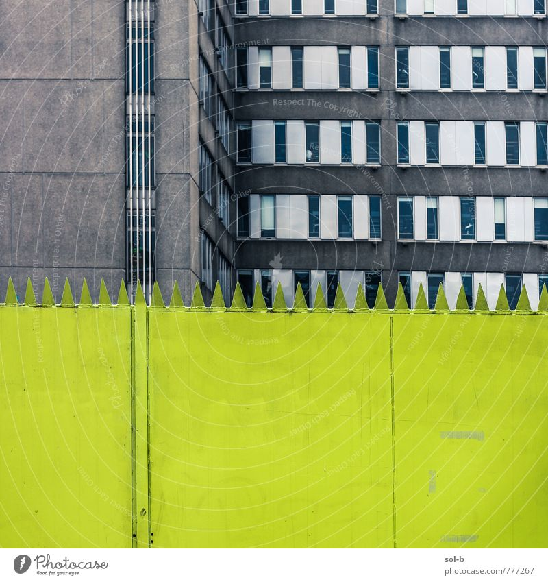 unfinished City Green Window Wall (building) Architecture Wall (barrier) Building Line Work and employment Facade Business Office Contentment Design Crazy