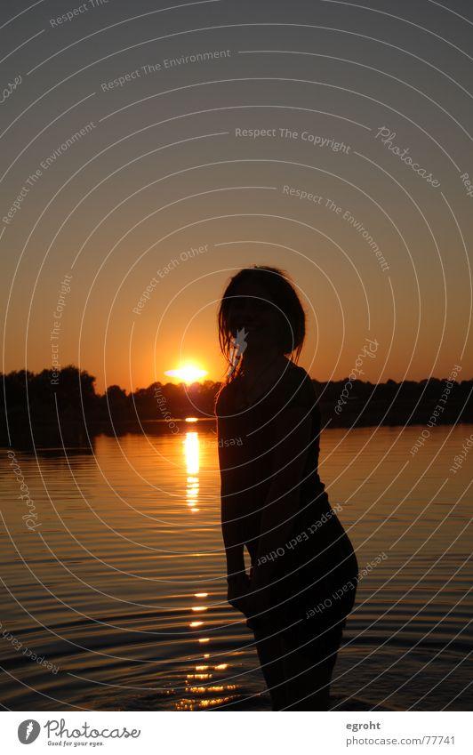 Girl Sky Sun Summer Playing Lake Warmth Physics Swimming & Bathing Dreadlocks