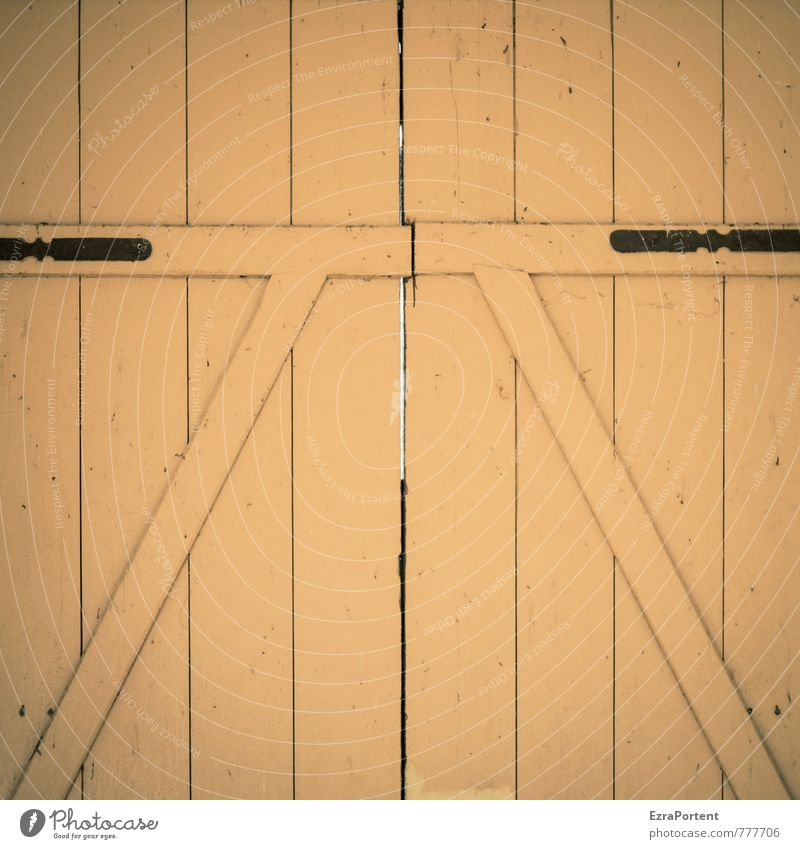 gate House (Residential Structure) Gate Manmade structures Building Architecture Door Wood Line Yellow Symmetry Diagonal Wooden board Closed Metal fitting Slit
