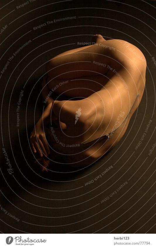 naked ? Naked Feminine Clothing Light Nude photography Human being Skin Fear Female nude