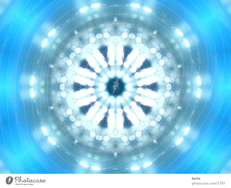 Water Blue Bright Wet Tunnel Bottle Deep Kaleidoscope