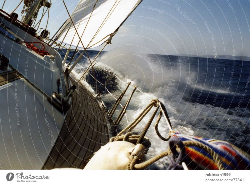 Only by the wind.... Lake Sailing Rough Ocean Driving Reef close to the wind Wind reefed