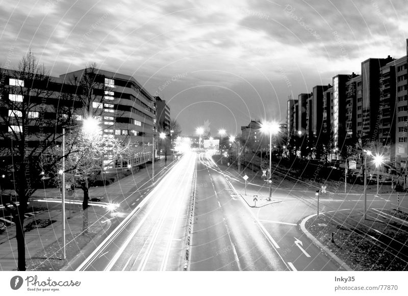 Sky City Clouds Street Lamp Lanes & trails Lighting High-rise Transport Outskirts Nature