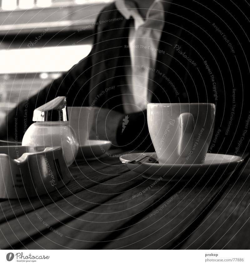 Man Garden Wood Table Coffee T-shirt Bench Shirt Square Café Suit Sugar Anonymous Artist Acrobat Cup
