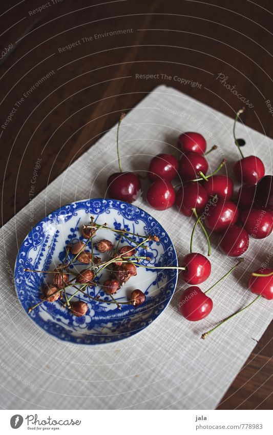 cherries Food Fruit Cherry Cherry pit Nutrition Organic produce Vegetarian diet Finger food Plate Chopping board Healthy Eating Fresh Delicious Natural Appetite