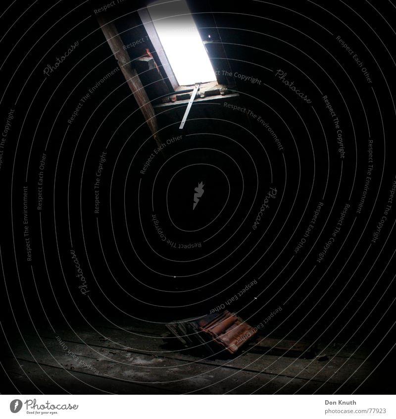 attic Roof Light Dark Brick Red Floor covering Shadow Lamp