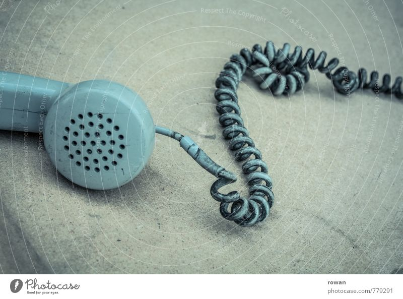 Old Sadness Gray Technology Telecommunications Retro Telephone Cable To call someone (telephone) Old fashioned Receiver