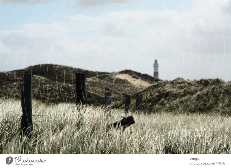 Nature Sky Ocean Summer Beach Clouds Sand Wind Island Gale Fence Lighthouse Sylt