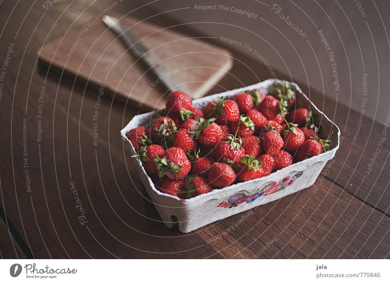 strawberries Food Fruit Strawberry Nutrition Organic produce Vegetarian diet Knives Chopping board Esthetic Fresh Healthy Delicious Natural Appetite