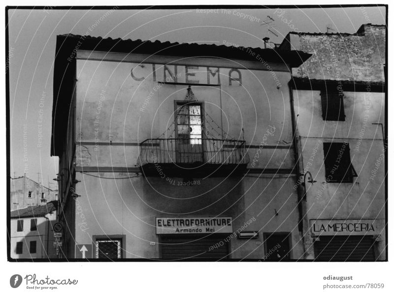 cinema italia Cinema Evening sun Kintopp House (Residential Structure) Old building Tuscany Italy