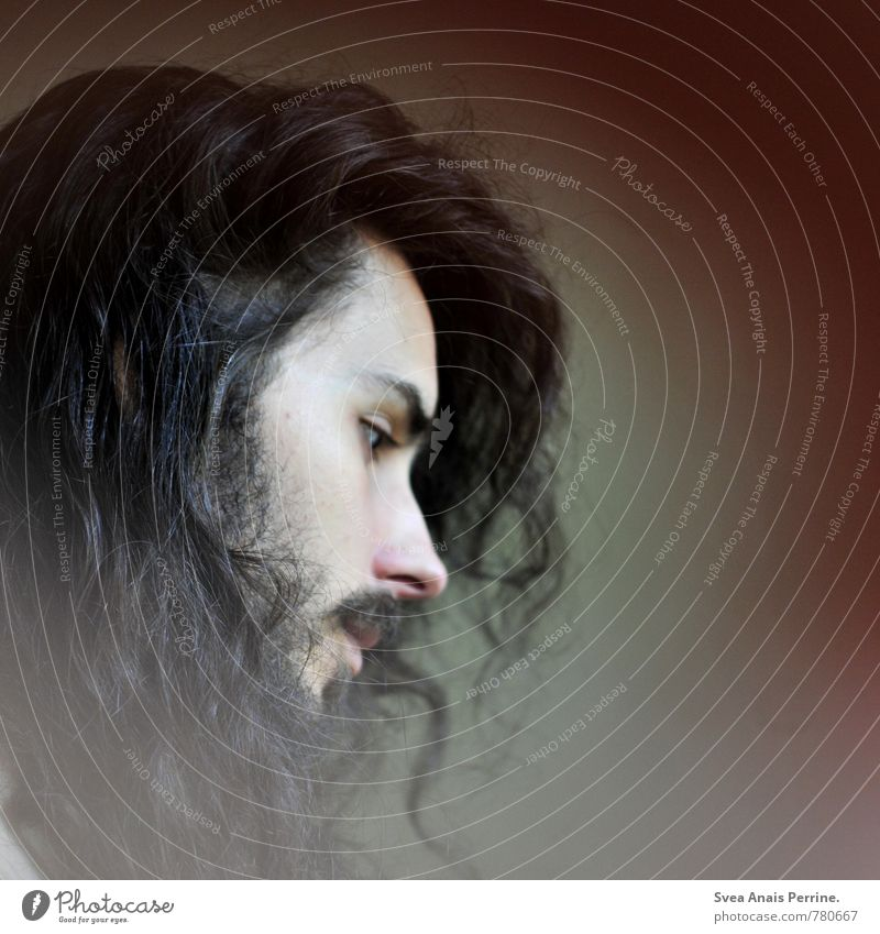 . Masculine Man Adults Hair and hairstyles Face 1 Human being 18 - 30 years Youth (Young adults) Black-haired Brunette Long-haired Curl Exceptional Beautiful