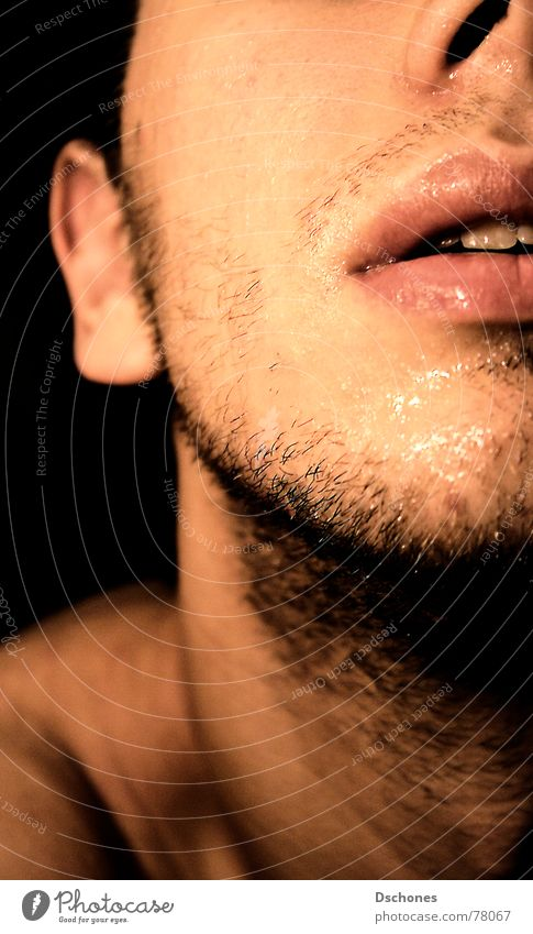 Man Youth (Young adults) Water Joy Face Eyes Dark Freedom Young man Masculine Nose Protection To enjoy Strong Curl Brave