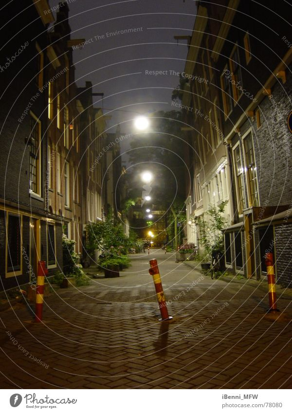 Amsterdam at night Alley Night Netherlands Gracht Lighting Narrow Awareness canal houses
