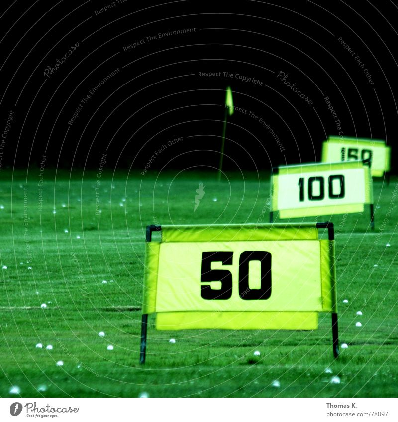 Driving Range (or: can you drive longer?) Golf ball Flagpole Tee off Green Yellow Grass 50 100 Meadow Green space Park New recruit Far-off places Apprentice