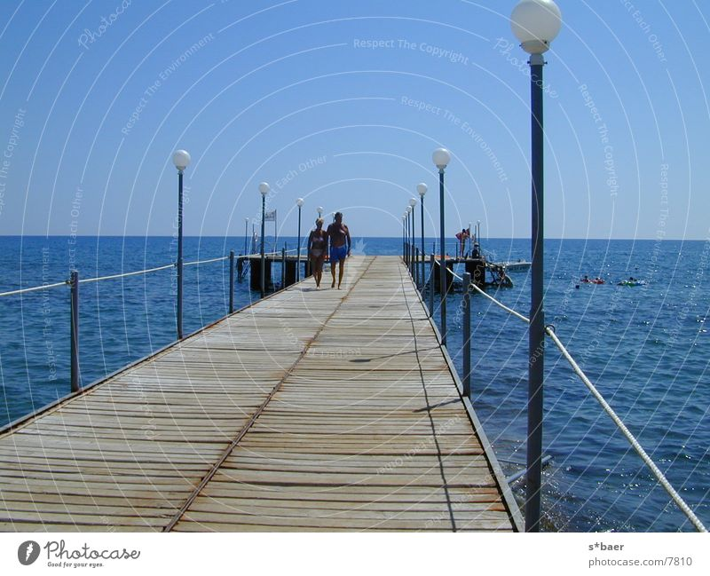 Beach pier Jetty Ocean step