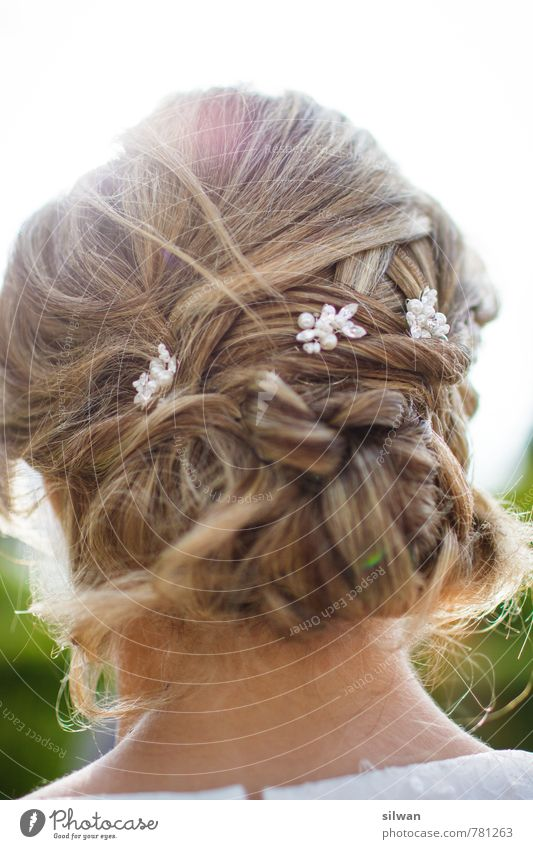 Hairstyle #1 ... Wedding Feminine Fashion Hair and hairstyles Blonde Long-haired Braids Elegant Moody Happiness Beautiful Purity Tradition Attachment