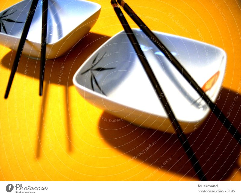 Yellow Nutrition Asia China Japan Bowl Cutlery Sushi Chopstick Far East