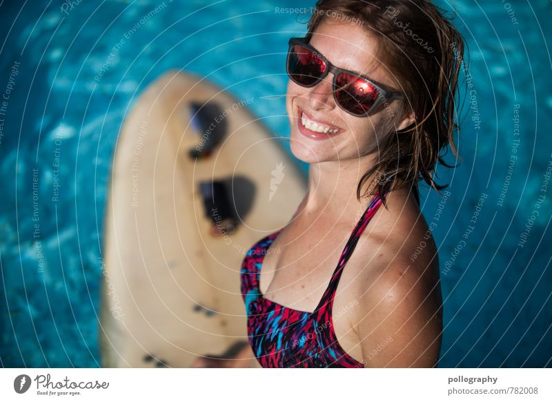 Human being Woman Vacation & Travel Youth (Young adults) Beautiful Summer Sun Ocean Young woman Joy 18 - 30 years Adults Life Emotions Feminine Freedom