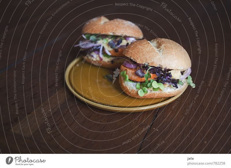 veggie burger Food Vegetable Lettuce Salad Roll sandwich Nutrition Lunch Organic produce Vegetarian diet Slow food Plate Healthy Eating Fresh Delicious Natural