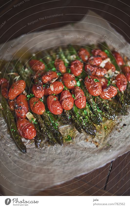 oven asparagus Food Vegetable Asparagus green asparagus Tomato asparagus dish Nutrition Lunch Dinner Organic produce Vegetarian diet Healthy Eating Fresh