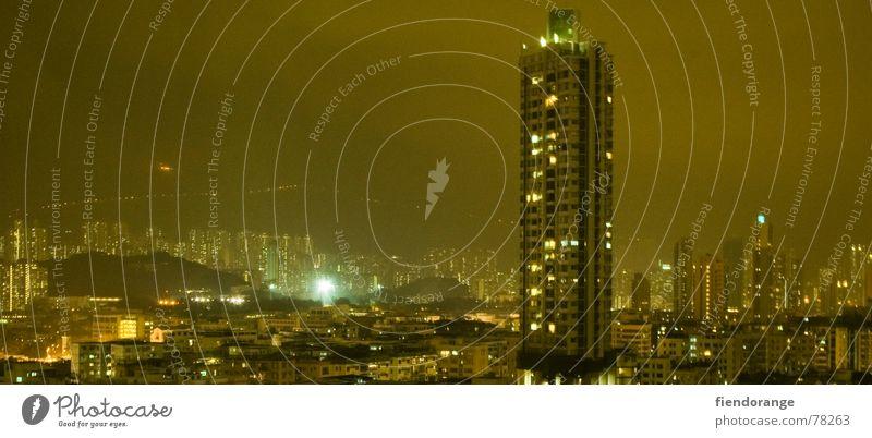 City Loneliness Large High-rise Vantage point Skyline Panorama (Format) Hongkong Familiar Kowloon