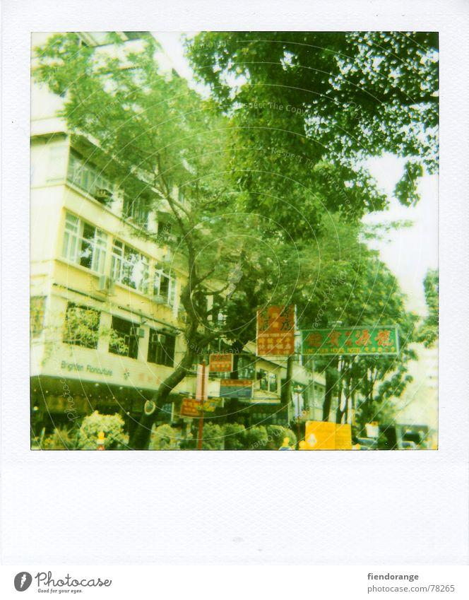 hk street Hongkong Far-off places Street Life Polaroid Central Foreign