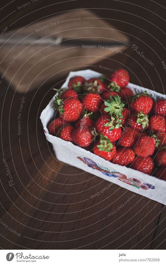 strawberries Food Fruit Strawberry Nutrition Organic produce Vegetarian diet Knives Chopping board Esthetic Authentic Simple Fresh Healthy Delicious Natural