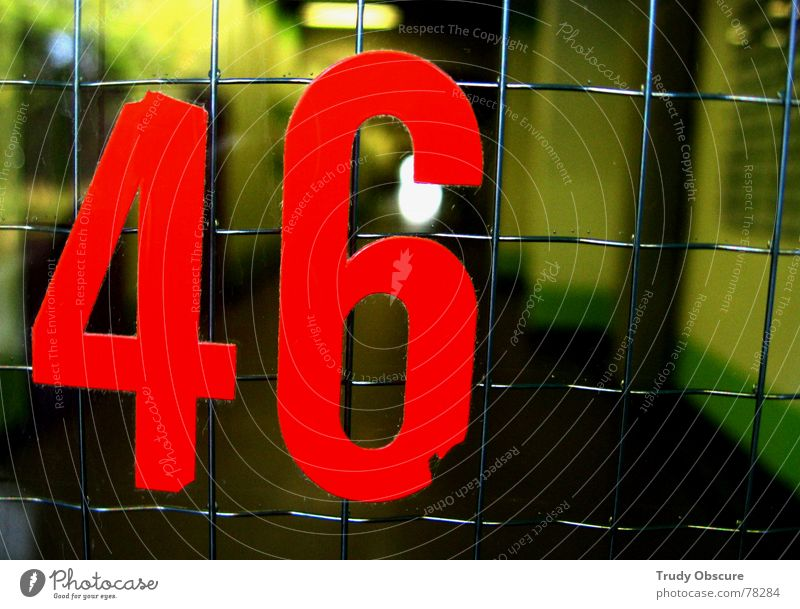 postcard no. 46 Background picture Surface Iron Grating Digits and numbers House (Residential Structure) Building Manmade structures Window Glass door Entrance