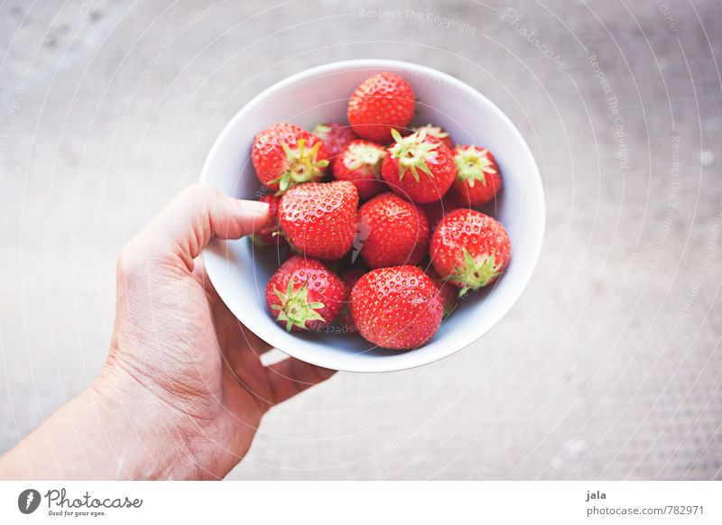 strawberries Food Fruit Strawberry Nutrition Picnic Organic produce Vegetarian diet Finger food Bowl Feminine Hand Fingers Fresh Healthy Delicious Natural Sweet